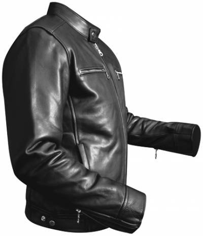 a3777935dbb3 OSX - Veste Cuir Homme - Harrison Jacket - Noir  Amazon.fr  Vêtements et  accessoires