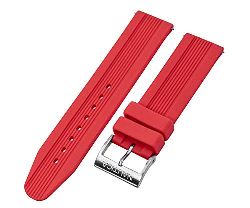 Nautica Men's N14626G | A14626G NSR 11 Red Silicone 22mm Original Replacement Watch Band