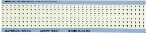 Brady WM-7-PK 1.5 Length B-500 Repositionable Vinyl Cloth Black On White Color Solid Numbers Wire Marker Card Legend 7 (Pack Of 25) [並行輸入品] B07N872G88