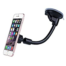 Windshield Mount, Mpow Magnetic Phone Mount Car Mount Gooseneck Flexible Car Windshield Phone Mount with 360 Degree Rotation,Magnetic Car Mount Only for Car Window, for iPhone 6S/6/8/8Plus/7/7S/7plus/5/5S Samsung Galaxy S7/S7 edge/S8/8 Plus/a5/S5/S4/Note 2/Note 8Plus/LG and Other Smartphones