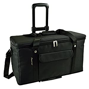 Picnic at Ascot Ultimate Travel Cooler with Wheels- 36 Quart - Combines Best Qualities of Hard & Soft Collapsible Coolers - Black