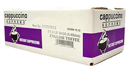 English Toffee Cappuccino - Cappuccino Supreme English Toffee Instant Cappuccino Mix 6 x 2 lbs