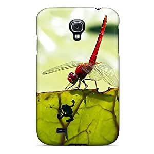 For Jeffrehing Galaxy Protective Case, High Quality For Galaxy S4 Os 4.0 Dragonfly Skin Case Cover