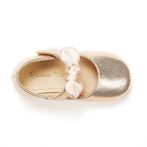 DREAM Toddler Belle_02 Gold Mary Ballerina Flat Size 9