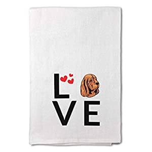 Style In Print Custom Decor Flour Kitchen Towels Love Hearts Sussex Spaniel Dog Pets Dogs Cleaning Supplies Dish Towels Design Only 41