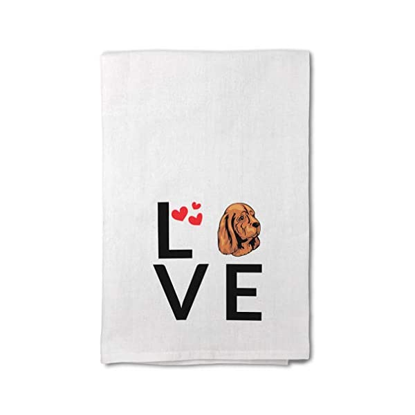 Style In Print Custom Decor Flour Kitchen Towels Love Hearts Sussex Spaniel Dog Pets Dogs Cleaning Supplies Dish Towels Design Only 1