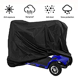 Mobility Scooter Cover Waterproof for Wheelchair and Mobility Scooter Cover Storage Bag Cover with Elastic Band for… 47