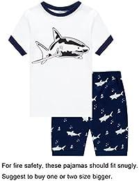 Little Boys Train 2 Piece Pajamas Shorts 100% Cotton 6M-8Years
