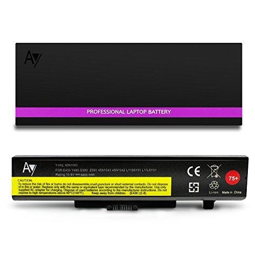 75+ Battery [10.8V / 71Wh] AY High-Performance Replacement Laptop Battery for Lenovo ThinkPad E430 E431 E435 E440 E445 E530 E531 E535 E540 E545 0a36311 ()
