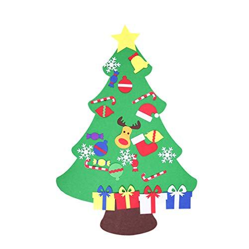 WAOBE DIY Árbol De Navidad Juego De Sentía, 39 Pulgadas con 28 PC Adornos Pared Adornos Desmontable De Decoración, Regalos...