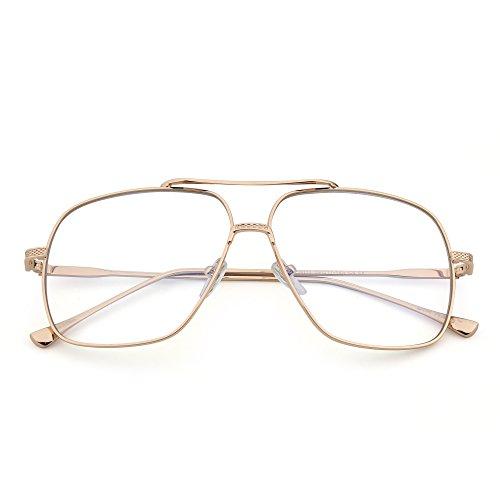 Clair Or lunettes Des Aviateur Hommes Oversize Solaire Lentille Gradient Pilot Métal soleil de Lunette Clair Femmes wYqSS6H