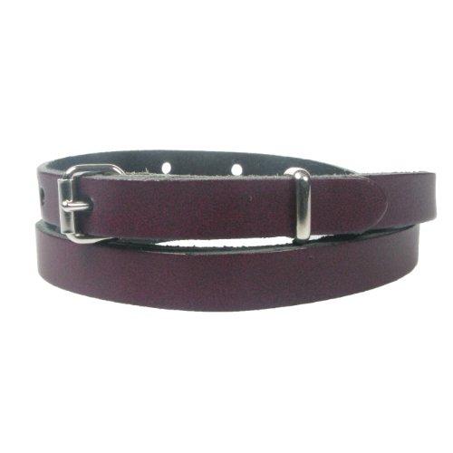 Genuine Skinny fine 12 mm pour femme avec ceinture et courroie en cuir fabriqu