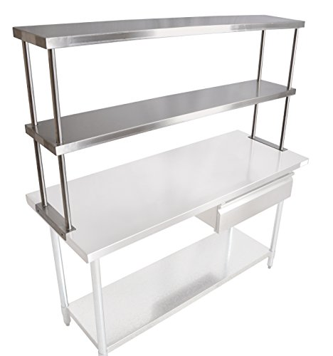 John Boos OS-ED-1248 Stainless Steel 430 Economy Double Overshelf, 48'' Length x 12'' Width by John Boos