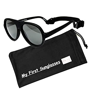 BIB-ON Top Flyers- Best First Sunglasses for Infant, Baby, Toddler, and Kids! 100% UV Protection. Many Colors and Sizes!