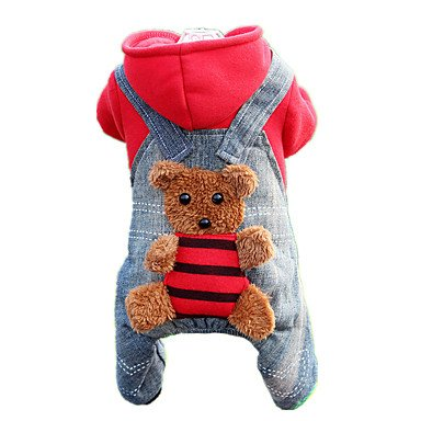Red XS Red XS Y-Hui Dog Clothes Jumpsuit Dog Clothes Cute Casual Daily Bear Yellow Red,Xs,Red