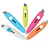 CHENGYIDA 10 - PACK Mini Self-Retracting Pocket Cutter, Safety Knife