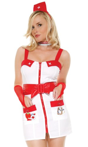 - Forplay Women's Love Doctor Adult Sized Costumes, White, Medium/Large