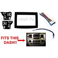 Black Dodge Ram Radio Stereo Double Din Dash Install Kit w/ Wiring Harness