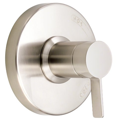 Danze D510430BNT Amalfi Single Handle Pressure Balance Valve Trim Kit, Valve Not Included, Brushed Nickel - Amalfi Trim