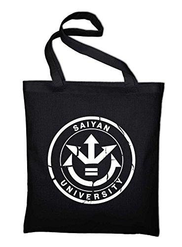 Styletex23bagsaiyan1 Logo Bag Tasche In And Cotton University Saiyan Black Fabric black Jute Bag 7qB5Anw