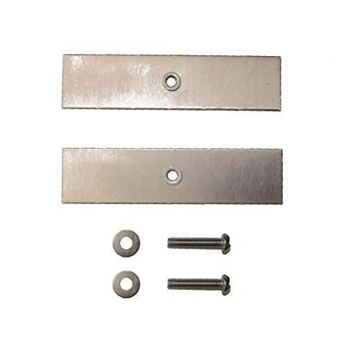 SmartSign Clips to Attach a Sign to Chain Link Fence, Aluminum Bracket and Bolts