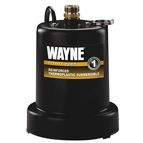 WAYNE TSC130 1/4 HP Reinforced Submersible Thermoplastic Water Removal Pump with 3/4 in. (0.25 Hp Water)