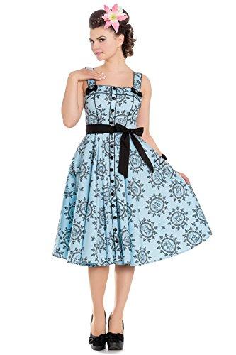 4691 DRESS SAILOR blau Hell GIRL Bunny 50'S Blau Kleid wq6w1nSY