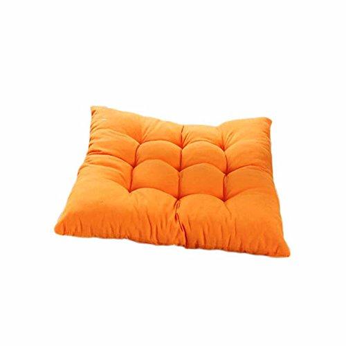 Rawdah Cojín suave para silla, cuadrado, acolchado, mezcla de lino, OG, Size:40cm