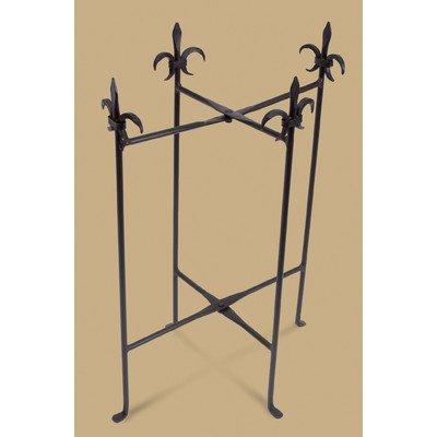 KINDWER Fleur-De-Lis Iron Stand for Oval Tubs, Black (Tub Fleur Beverage De Lis)
