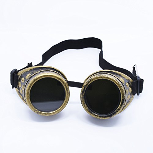 Mcupper-Fashion Vintage Goggles Steampunk Welding Goth Cosplay Vintage