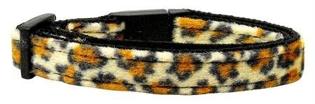 Mirage Pet Products Animal Print Nylon Cat Safety Collars, Jaguar