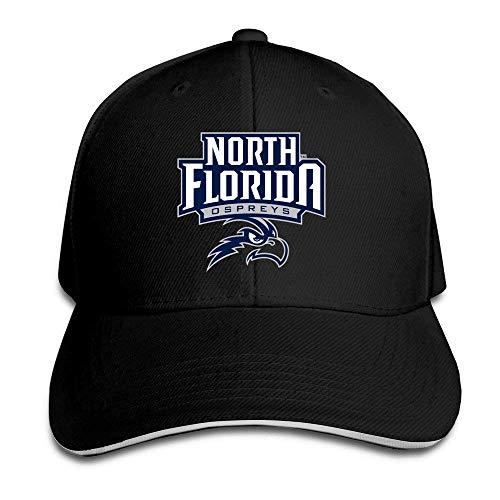 WHROOER University of North Florida Ospreys Logo Flex Baseball Cap Black