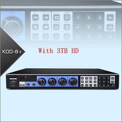 FidgetGear KOD-8H Jukebox Mixer KARAOKE MICROPHONE Machine System Player W/HDMI W/3TB HD ()