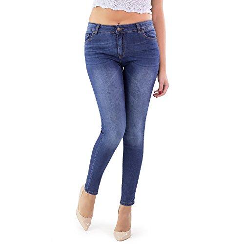 Skinny Alla Ultra Skinny In Medio Vita Attillati Caviglia Italy Made Jeans Alta Donna 8Eqz5