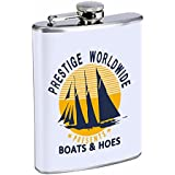 Boats & Hoes Step Bros Funny 8oz Stainless Steel Flask Drinking Whiskey