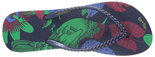 flip*flop Slim Kolibri - Sandalias Mujer Multicolor - Mehrfarbig (DEEP night 032)
