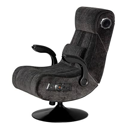 Superbe PC Gaming Chair, Wireless Bluetooth Audio, Color Charcoal