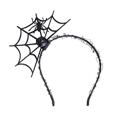 (Toyvian Halloween Spider Web Headband Funny Hair Hoop Party Cosplay Accessory)