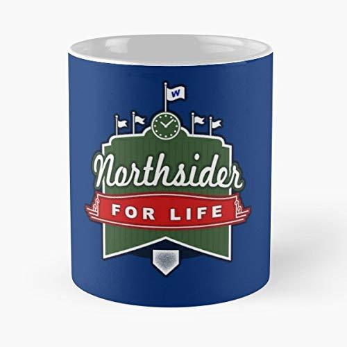 Baseball Northside Windy City Illinois - 11 Oz White -coffee Mug- Unique Birthday Gift-the Best Gift For Holidays.]()