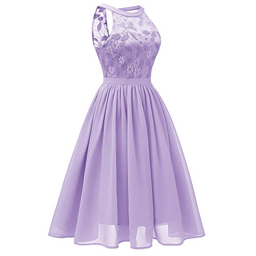 Robes Robe Violet Party Retro Femme Dentelle Fleur Imprim Manches Bringbring sans Chic Mini Princess Pqw6adxq