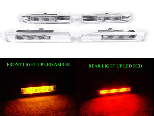 DEPO USA 2004-2008 ACURA TL CLEAR 4 PIECES LED SIDE MARKER LIGHT LAMP JDM ()