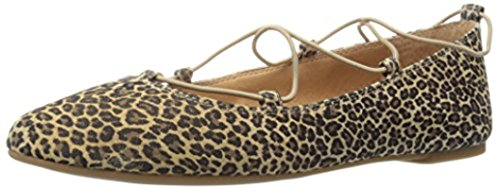 Toe aviee Lucky Persian Leopard Pointed Brand Flat Sesame Women's wHwcqIPWE