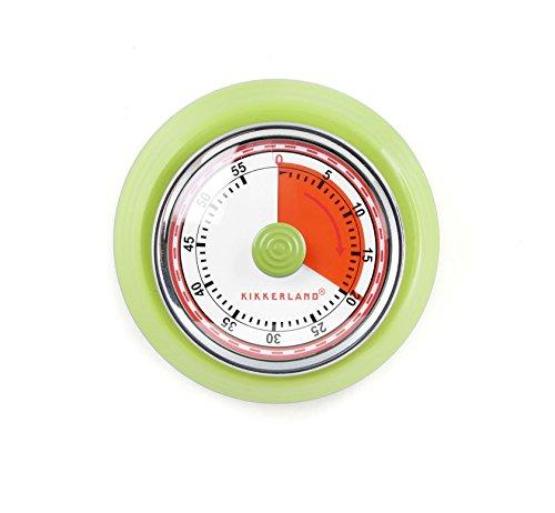 Kikkerland Timer - Kikkerland KT051-G Magnetic Kitchen Timer, Green