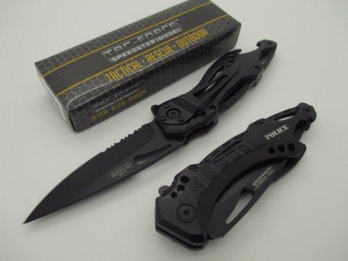 TAC-FORCE Assisted Opening Linerlock Belt Clip Police Design
