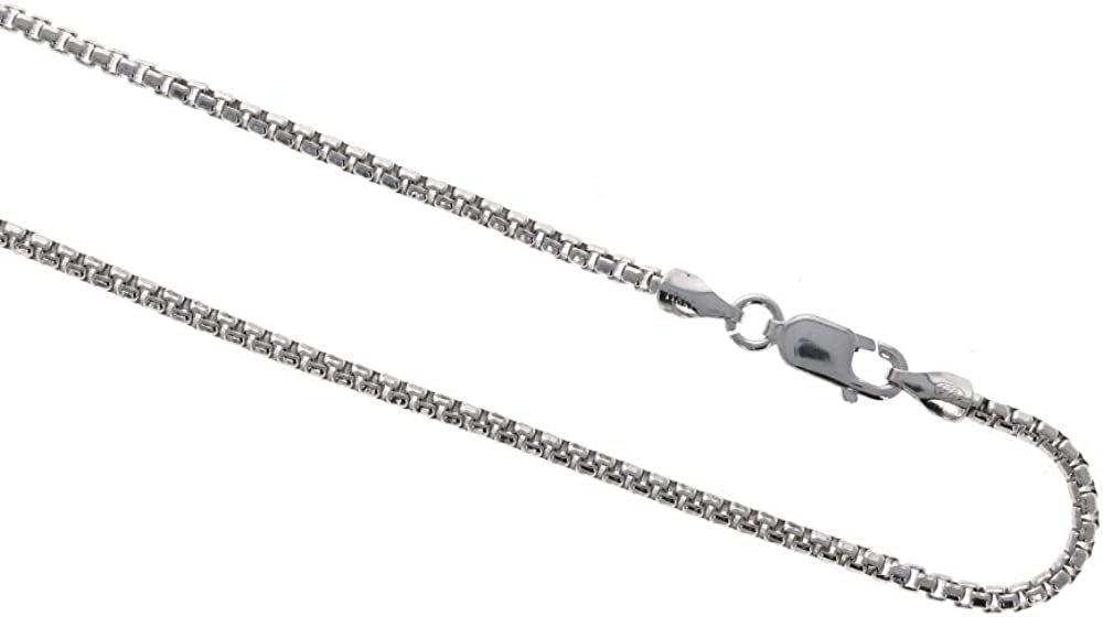 Glitzs Jewels 925 Sterling Silver Necklace Italian Chain, Figaro 100 Jewelry Gift for Women and Girls