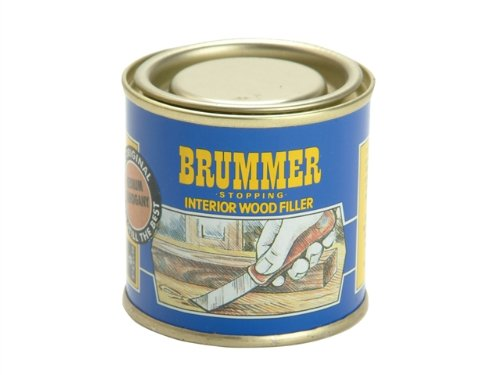 Brummer Yellow Label Interior Stopping Small Ebony BRUYSEB Adhesives and Fillers Fixings and Hardware Items Interior Wood Filler Small Size Tin Wood Fillers