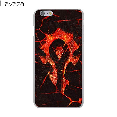 C.N. Black Red Horde Pattern iPhone 5 Case Wow World of Warcraft Theme I Phone 5S Cover 5 SE Battle for Azeroth MMO PVP Computer Game for The Horde Orcs Trolls Tauren Worgen, Hard Plastic