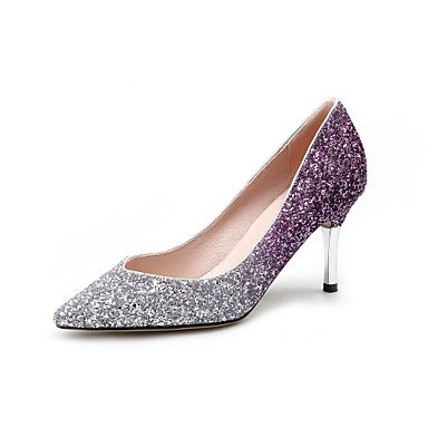 Zormey Heels Spring Summer Fall Winter Club Shoes Pu Glitter Wedding Office &Amp; Career Dress Stiletto Heel US7.5 / EU38 / UK5.5 / CN38