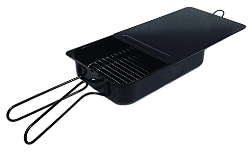 """Savannah Kitchen Large Indoor / Outdoor Non-Stick Stovetop Smoker (15.75"""" x 3.75"""" x 11.25"""") for Mouthwatering Holiday Smoked Ham, Turkey, Wings, Salmon, Steak, BBQ, Ribs, Corn, Meat, Fish, Veggies"""