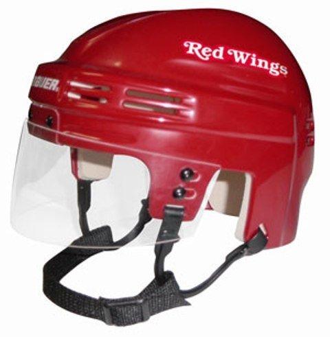 - NHL Detroit Red Wings Replica Mini Hockey Helmet